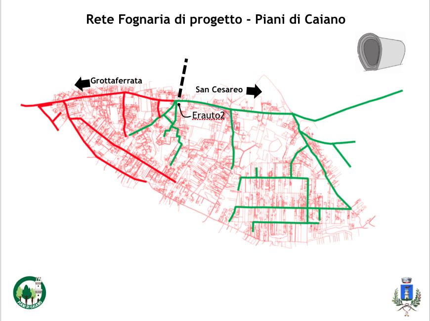Mappa rete fognaria for Piani di coperta a 2 piani